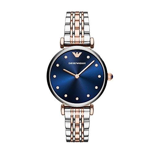 Emporio Armani Women's Dress Quartz Watch with Stainless-Steel Strap, Silver, 14 (Model: AR11092) (Emporio Watch)