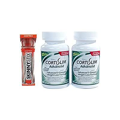 Basic Research Zantrex Skinny Stix Tangerine 25 ea and Cortislim Advanced Two Bottles