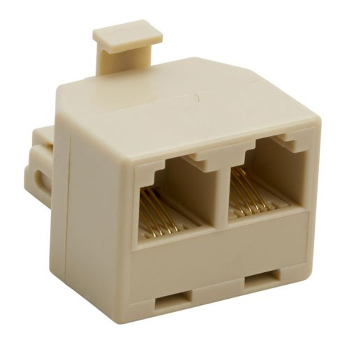 Cmple - Duplex Jack Adapter (Ivory, 4-conductor)