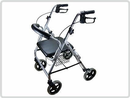 Luxus andador con ruedas fácil de peso, soporte para bastón ...
