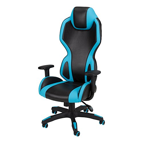 A.I. - High-Back Gaming Chair by SkyLab Performance Seating F.C., Blue/Black
