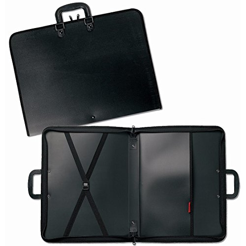 Prat Start 1 Portfolio, Lightweight Cover with Inside Pockets and Straps for Organization, Handle for Transport, 22 X 17 X 3 inches, Black (S1-1222) by Prat