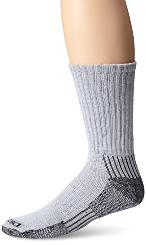 Crew Compression Socks - Dickies Men's 3 Pack Heavyweight Cushion with Ankle & Arch Compression Work Crew Socks, Grey, Sock Size:10-13/Shoe Size: 6-12