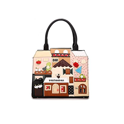 """restauran"" Travel Shoulder Bags Osye Pu Tote Bags-beige"