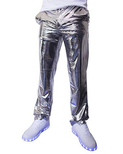 Light Up Pants - Electro Pants Shiny Disco Dress Trousers