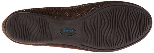 Dark SoftWalk Ballet Brown Flat Narina Mini Women's Dot xpanqpI