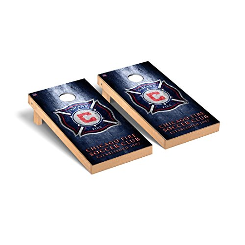 Chicago Fire MLS Soccer Regulation Cornhole Game Set Museum Version by Victory Tailgate