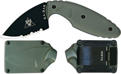 KA-BAR 3-1477FG-3 TDI Law Enforcement Knife, Foliage Green, ComboEdge, Outdoor Stuffs