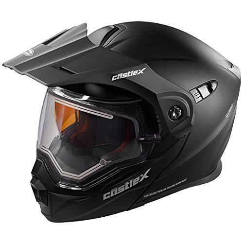 Castle X EXO-CX950 Electric Modular Snowmobile Helmet - Solid Matte Black - XLG