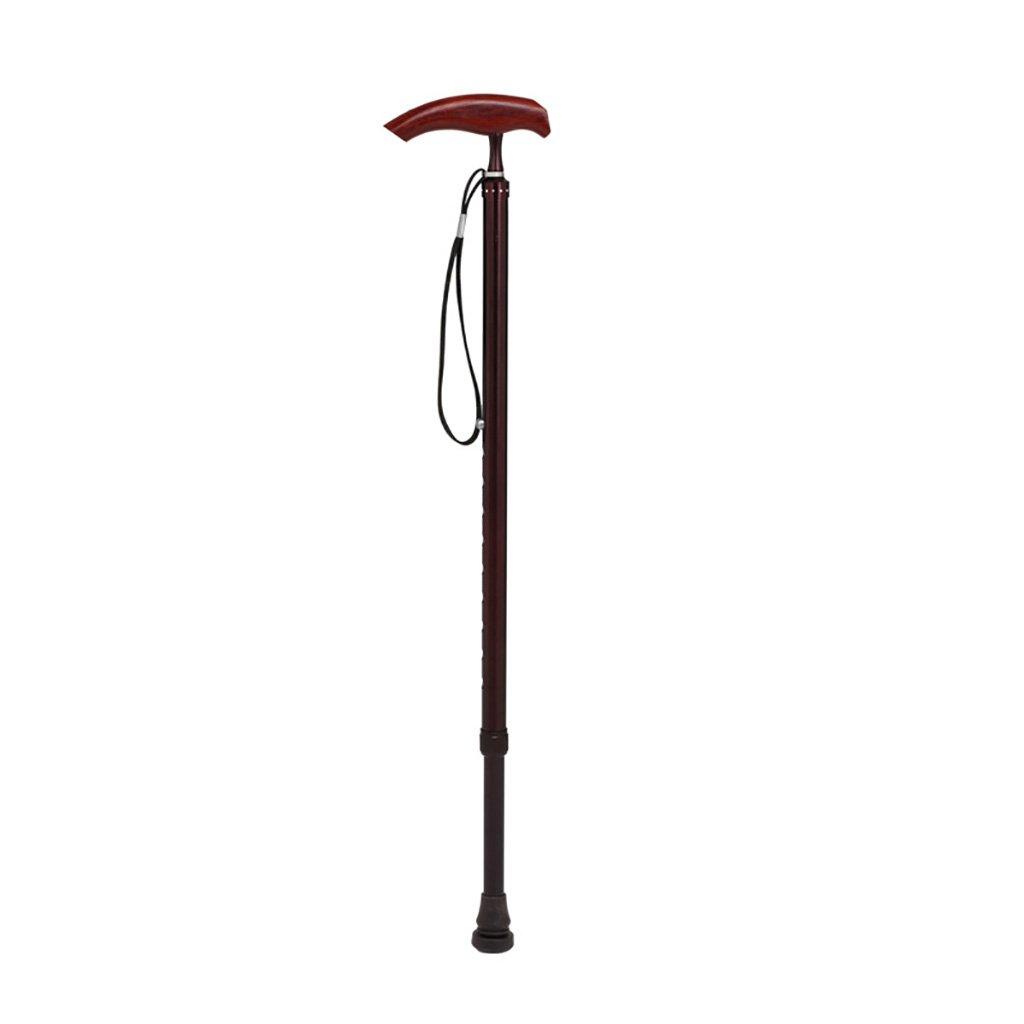 WENJUN 私の杖折りたたみ杖と調整可能なLEDライトとクッションのハンドルシニアーシングルフット松葉杖ノンスリップレッドウッドアームレスト多機能援助ウォーキングスティック (色 : Purple) B07F38B5F6 Purple Purple