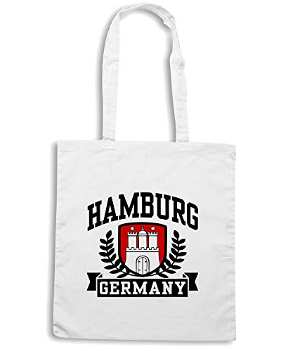 TSTEM0042 Borsa Speed Shopper GERMANY HAMBURG Shirt Bianca wFBOBqI0