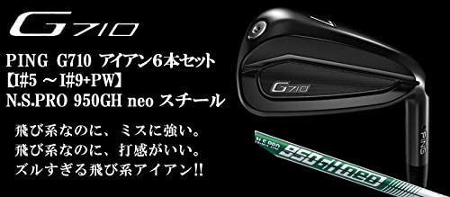PING(ピン) G710 アイアン6本セット [番手:I#5~I#9+PW] N.S.PRO 950GH neo スチールシャフト メンズゴルフクラブ 右利き用
