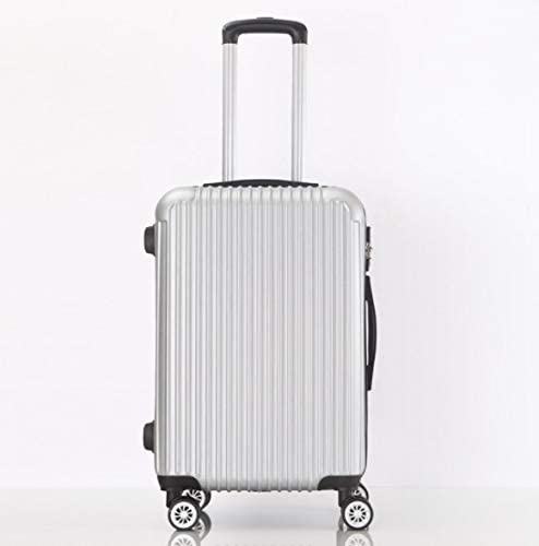 GaoMiTA Large Capacity 26 inch 28 inch ABS Trolley case Luggage Universal Wheel Password Suitcase Men and Women Color : Silver, Size : L