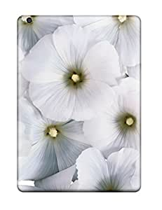 New Style 7294132K77896230 New Cool White Flowers Tpu Case Cover, Anti-scratch Phone Case For Ipad Air