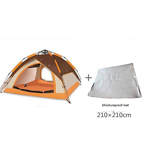 耐えられる緩む人工的なQFFL zhangpeng テント二重自動テントアウトドア3-4家族防雨テントキャンプ野生キャンプ8色オプション トンネルテント ( 色 : D )