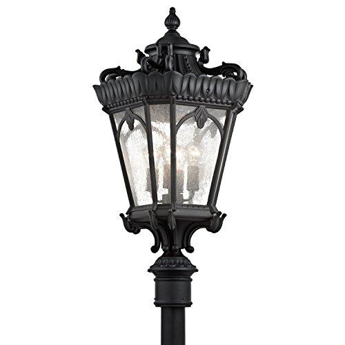Tournai Outdoor Post Mount - Textured Black 4 Light 37.5 Inch Tall Outdoor Post Light 9565BKT