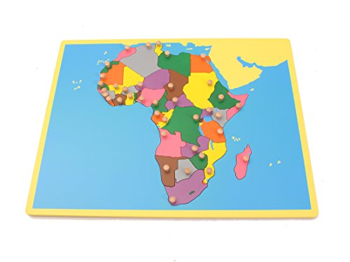 Africa Game - Montessori Early Childhood Educational Materials - Geography Family Set Small Africa Board Puzzle by PinkMontessori