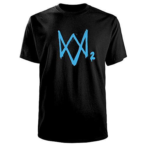 Watch_Dogs 2 Logo Men's T-Shirt Black - Target Exclusive, Size: Small