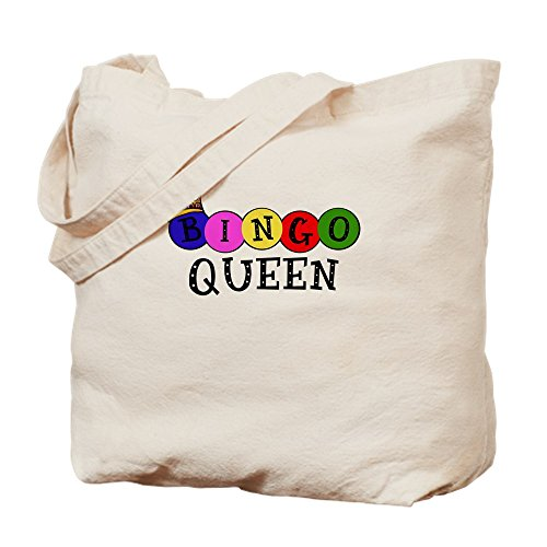 CafePress - Bingo Queen - Natural Canvas Tote Bag, Cloth Shopping Bag by CafePress