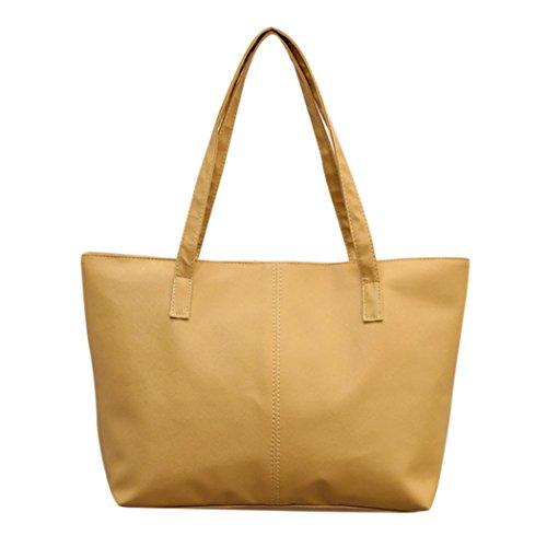 de Mujer de Grandes Hombro Bolso Bag Bolso Bolsa Shopper Mano Bandolera Tote Caqui ✦JiaMeng Bolsos Bolso 4Fwd5qq