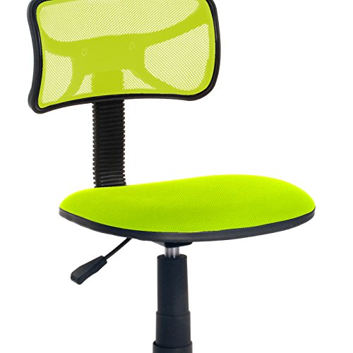 Best Price Homycasa Armless Swivel Office Chair Mesh Desk Chair GREEN