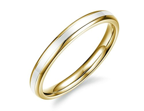 Black Laser Etched Steel Ring (Aienid Gold Plated Engagement Rings for Men Stainless Steel Eternity Promise Ring Smooth Retro Punk)