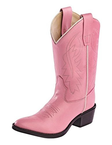Old West Girls' Cowgirl Boot Pink 3 D(M)