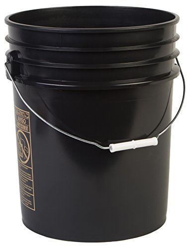 Hudson Exchange Premium 5 Gallon Bucket, HDPE, Black