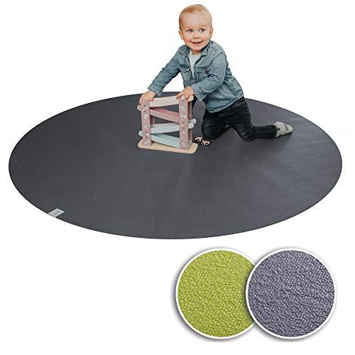 Sanosoft® Kruipmat rond – het origineel. Made in Germany, Öko-Tex anti-slip kruipmat: – rond 160cm grijs