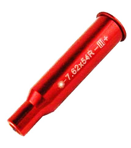 HunterSelect US RED Tactical 270 Cartridge .223 .308 7.62x39 7.62x54 30-06 Laser Bore Sighter .270 Red Beam Laser Sight Hunting Boresight ... (7.62X54)