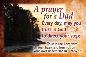 Pass It On Message Cards...A Prayer for a Dad... Package of 25 - God Prayer Card
