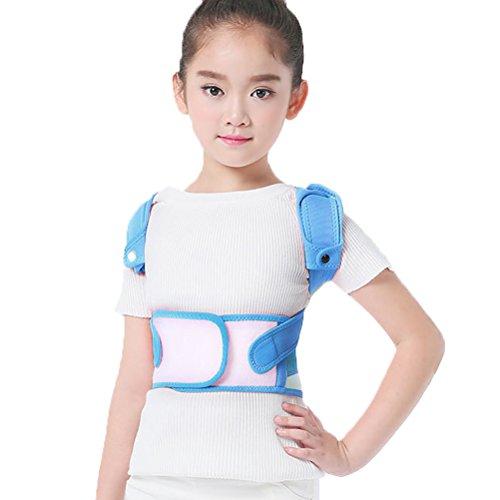 HOOPEN Children Adjustable Back Posture Corrector Clavicle Brace Back Support Shoulder Brace Kids Posture Neck Shoulder Support for boys girls (Blue, M) by HOOPEN