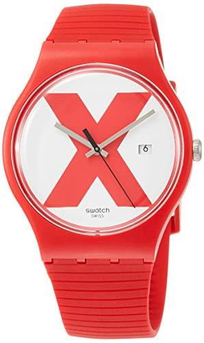 Swatch Men's XX-Rated Red SUOR400 Silicone Swiss Quartz Fashion Watch