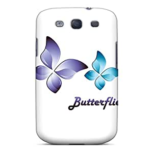 Galaxy S3 LBRQnKN7783cqdPi Butterflies Tpu Silicone Gel Case Cover. Fits Galaxy S3