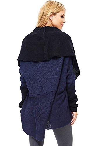 Love Stitch Women's Two Tone Knit Oversize Cardigan (L, Navy) by Love Stitch (Image #5)