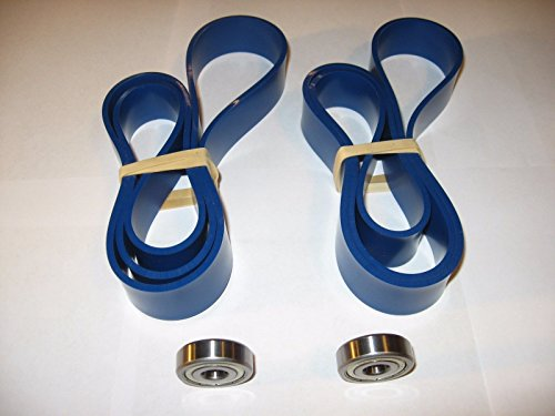 2 BLUE MAX BAND SAW TIRES AND THRUST BEARING SET FOR DELTA 28195 BAND SAW by Generic