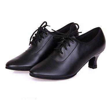 Claquettes de Moderne Bottier Personnalisables Cuir Noir Black Talon Chaussures danse Non Jazz SWd4qvzw