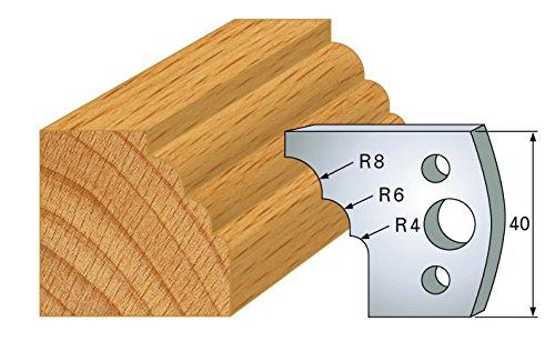 Jeu de 2 fers multi quart de rond ht 40 mm pour porte outils entraxe plot 24 mm 133