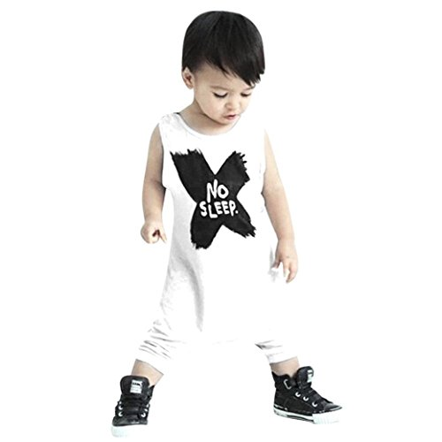 FEITONG Newborn Infant Kids Baby Boy Girl Romper Jumpsuit (Age:12-18M)
