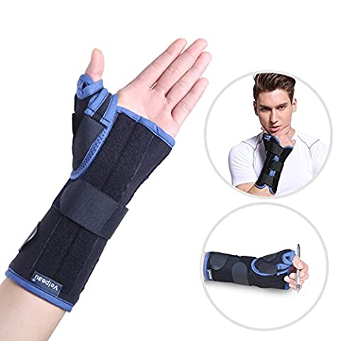 Wrist Brace with Thumb Spica Support for De Quervain's, Sprains, Arthritis, and Bursitis Pain Injury Relief - Medical Grade Quality Lightweight, Hypoallergenic for Women & Men (Left (Whatever You Do Be A Good One)