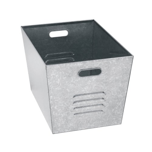 "Muscle Rack LB111310 Steel Galvanized Utility Bins 12"" Width x 11"" Height x 17"" Depth (Pack of 6)"