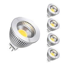 ChiChinLighting COB LED Mr16 Gu5.3 LED Light Bulbs Bi-pin 12v Halogen Gu5.3 LED Replacement (5w 35 Watts Halogen Replacement)