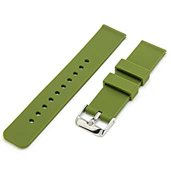 CIVO Quick Release Silicone Watch Bands Soft Rubber Watch Strap Smart Watch Band Stainless Steel Buckle 18mm 20mm 22mm