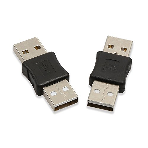 Electop 2 Pack USB Male To USB Male M/M Gender Changer Adapter Coupler - Gender Converter
