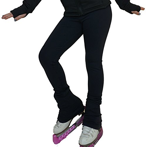 Black ice Skating Leggings Skate Pants vcsp07 VCSP17 CozyThemo Adult M (Ice Skating Pants)