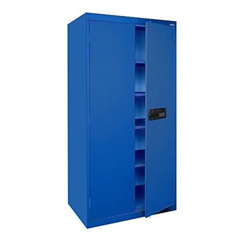 Cabinet Storage 36 Inch Access (Sandusky Lee EA4E361872-06 Elite Series Keyless Electronic Welded Storage Cabinet, 36