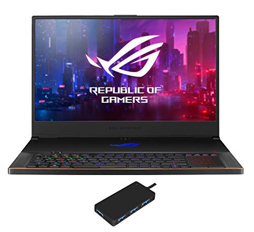 "ASUS ROG Zephyrus S17 Gaming and Entertainment Laptop (Intel i7-10750H 8-Core, 40GB RAM, 8TB PCIe SSD, 17.3"" Full HD (1920x1080), RTX 2070 Super, WiFi, Bluetooth, Win 10 Pro) with USB Hub"