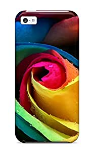 Christmas Gifts 8199852K79536041 New Premium Colorful Rose Skin Case Cover Excellent Fitted For Iphone 5c