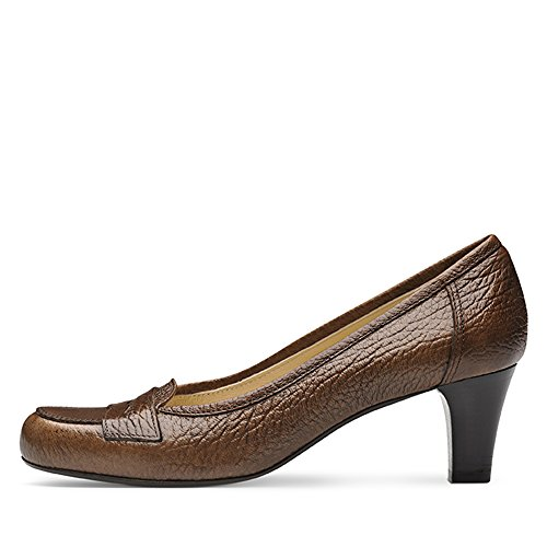 ... Evita Shoes Giusy Damen Pumps Genarbtes Leder Cognac ...