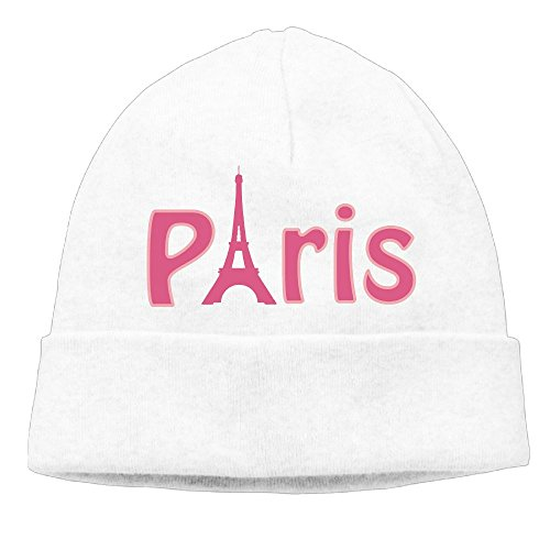 Bed Head Eiffel Tower (AKKK47 Pinik Pinik Paris Eiffel Women's Daily Solid Knit Cap Beanie That Fit Your Head Perfect Stretchy & Soft White)